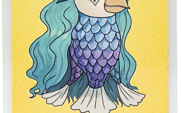 疫病から人々を守るとされる妖怪「アマビエ」の純金製カード