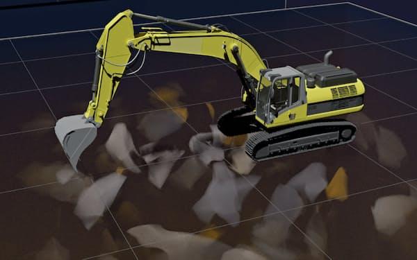 DeepXは自社開発のシミュレーターを活用し、建機自動化に必要なデータを集める