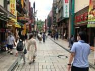 19年は過去最多の観光客数だったが、新型コロナ感染拡大以降は観光客が減っている(横浜中華街)