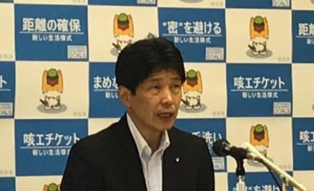 県民の行動制限の要請は一部にとどめた(14日、前橋市)