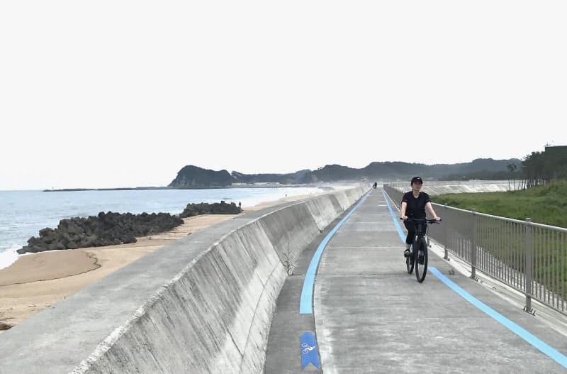 「いわき七浜海道」沿いには砂浜や松林が広がる(福島県いわき市)