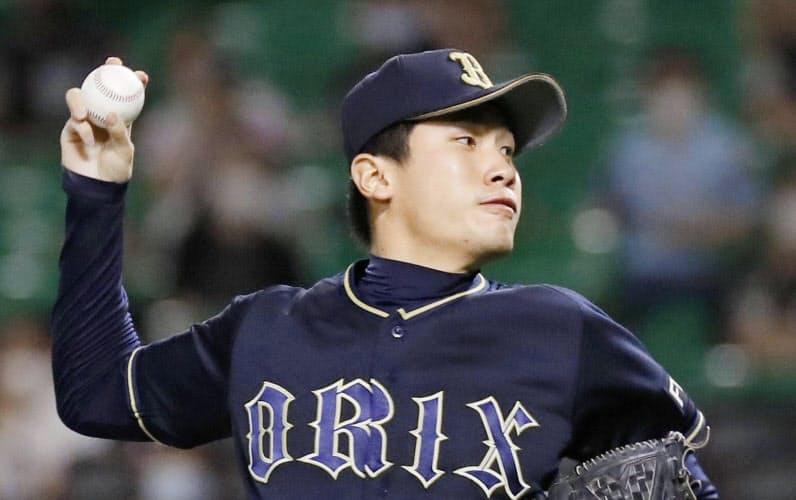 5回に3番手で登板し、プロ初勝利を挙げたオリックス吉田凌(15日、ペイペイドーム)=共同