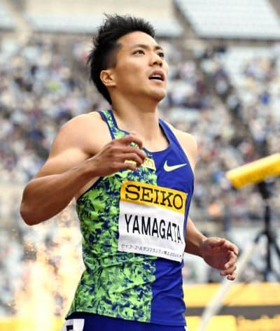 ケガが完治した山県は昨年5月以来のレースで復活を目指す=共同