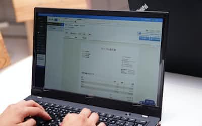 フィンテック企業は請求書のデジタル化を契機に新たな金融サービスを狙う(マネーフォワードの請求書管理ソフト)
