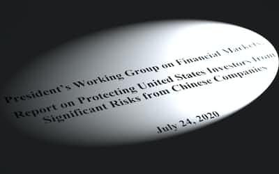 米大統領作業部会が7月24日にまとめた「米国の投資家を中国企業の重大なリスクから保護するための報告書」