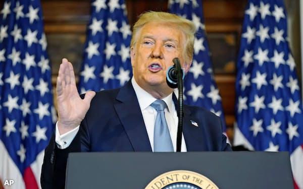 2016年の米大統領選をめぐり、トランプ大統領の選挙陣営とロシアの共謀疑惑は立証できないと結論づけられている=AP