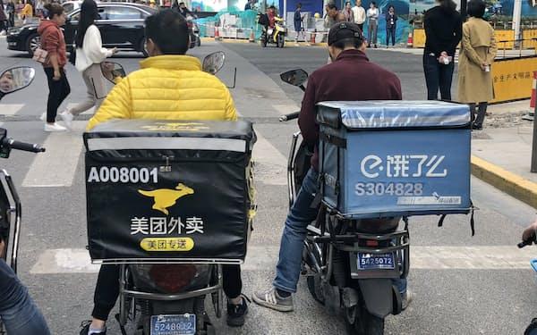 アリババが通販に次ぐ柱と位置づけるネット出前は伸び悩んでいる(上海市)