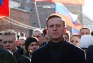 意識不明となっているロシアの反体制派指導者アレクセイ・ナワリヌイ氏(写真は2月、モスクワ)=ロイター