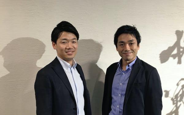 東京海上HDでプログラムの運営に携わる二宮氏(左)と村上氏