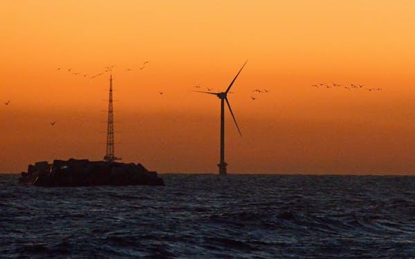 洋上風力発電の実証実験