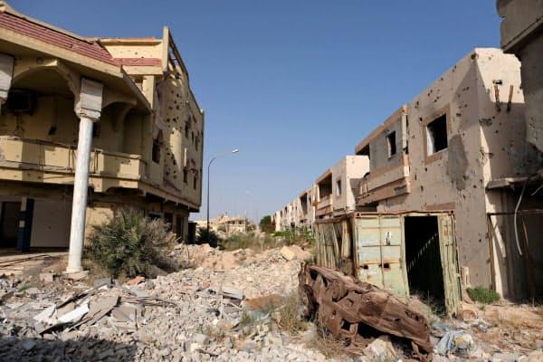 破壊されたリビアの都市シルト=ロイター