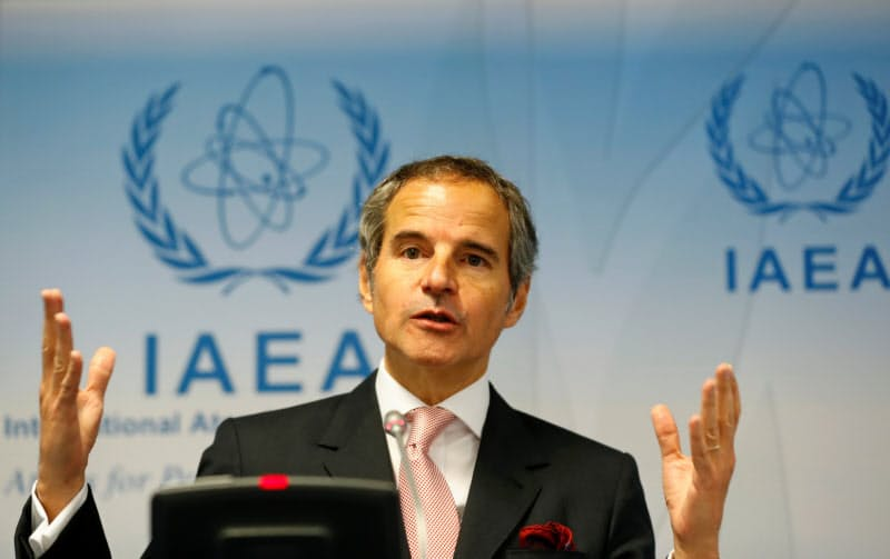IAEAのグロッシ事務局長は、イランで複数の政府高官と会談する予定だ=ロイター