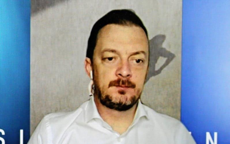 ブラジルの自宅からオンライン会見に臨むパーソンズIPC会長(8月21日)