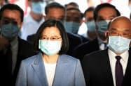 台湾の蔡英文(ツァイ・インウェン)総統は、訪台するチェコの上院議長と会談する予定だ=ロイター