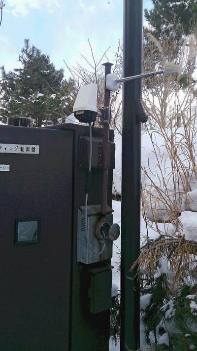 北海道ガスが函館市に設置したAIカメラ搭載の融雪装置