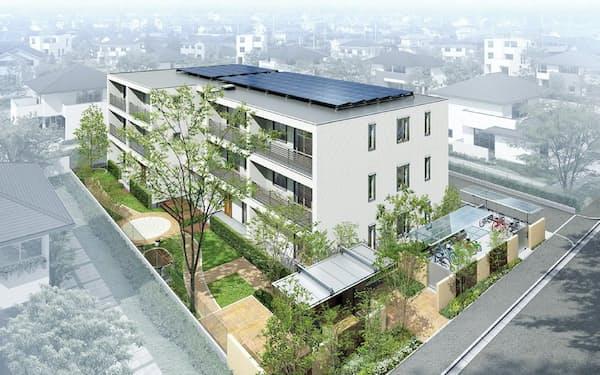 旭化成ホームズの賃貸住宅「ヘーベルメゾン」に太陽光発電の設置を進める