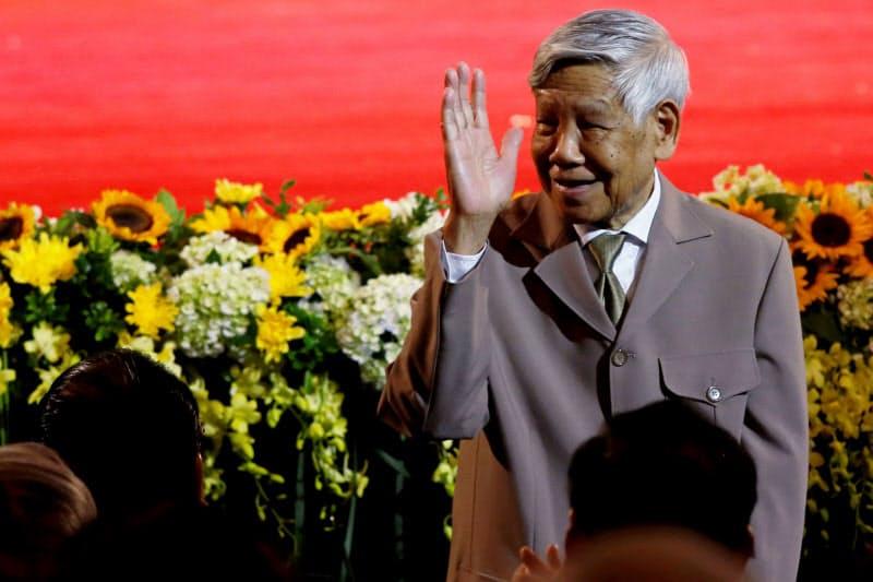 カンボジアからのベトナム軍撤退も指揮したレ・カ・フュー元共産党書記長(2017年)=ロイター