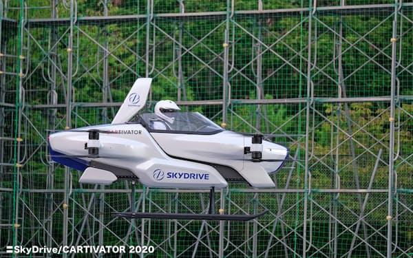 スカイドライブは1人乗りの機体で有人試験を重ねている