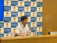 山本知事は臨時記者会見で「大変残念」と語った(前橋市)