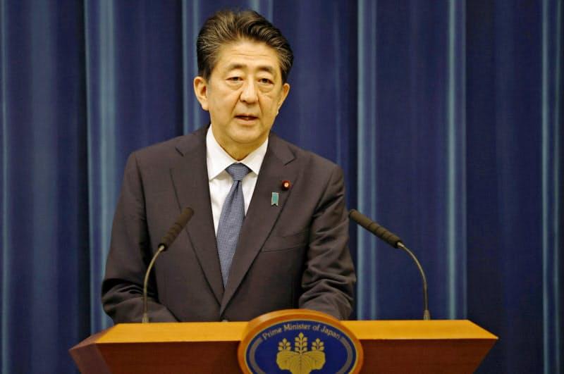 28日の記者会見で、安倍首相は辞意を表明した(首相官邸)