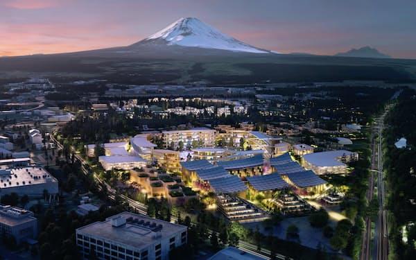 トヨタ自動車はグループで展開するスマート都市の実証プロジェクト「ウーブン・シティ」でスタートアップやほかの事業者とのオープンイノベーションを推進する(写真はウーブン・シティのイメージ)