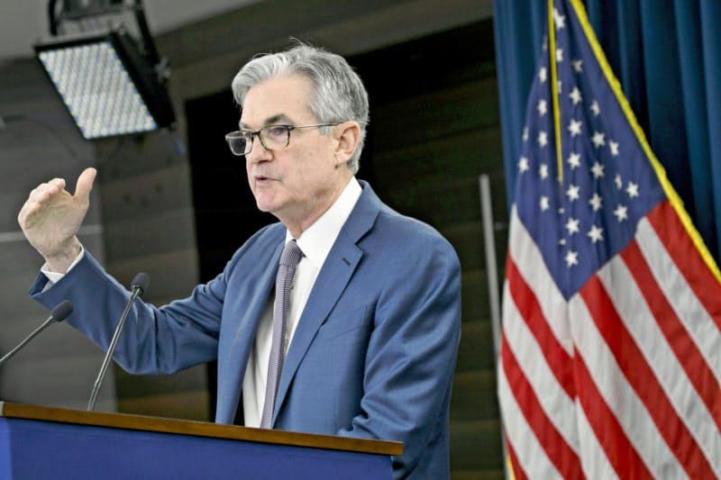 FRBのパウエル議長は物価目標の修正を表明した=AP