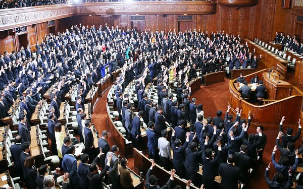 2014年11月の衆院解散時の本会議場