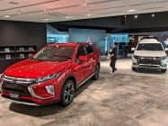 三菱自の新ショールームで5車種を展示する