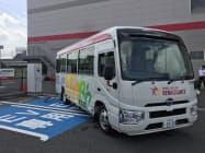 送迎用の電動バスを非常用電源として運用する