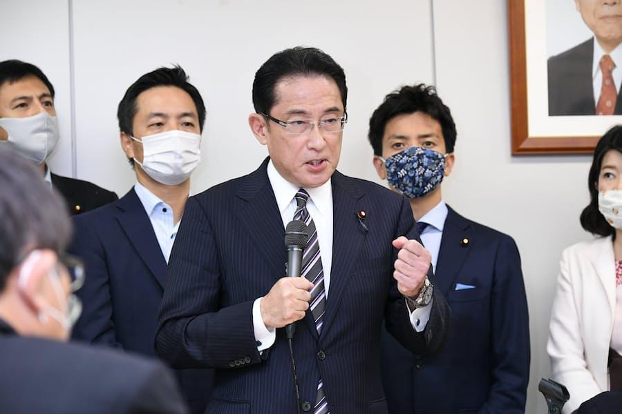 岸田氏、自民党総裁選出馬を正式表明: 日本経済新聞