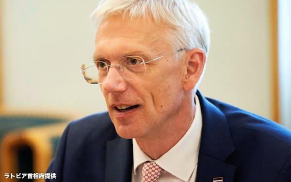 カリンシュ首相(ラトビア首相府提供)