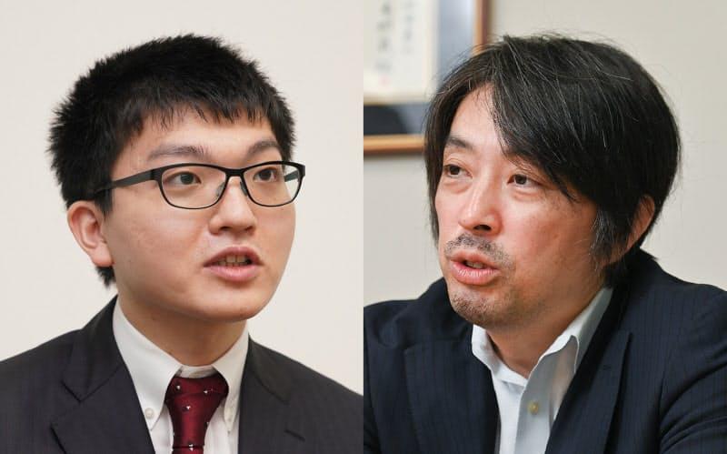永瀬拓矢王座(左)と久保利明九段