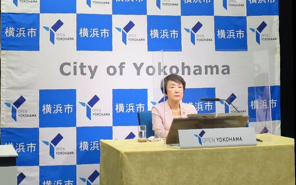 林文子市長は横浜市でのMICE開催に期待感を示した(2日、横浜市役所)
