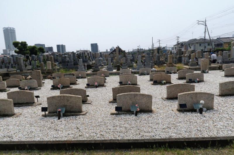 ロシア兵墓地はきれいに管理され、花が手向けられていた