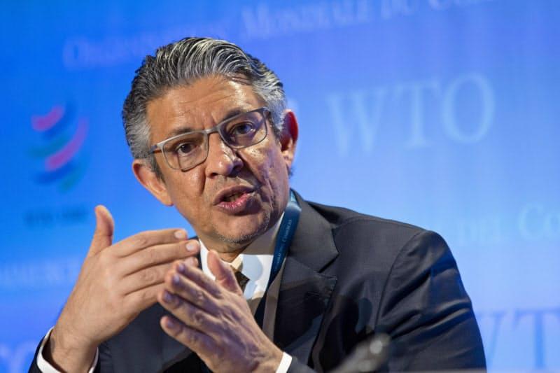 WTO事務局長選挙に立候補したサウジアラビアのトワイジリ元経済企画相=AP