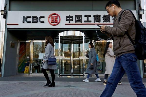 中国工商銀行など四大銀行の不良債権比率はそろって上昇した=ロイター
