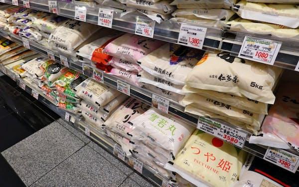 コメは巣ごもり消費を捉えきれていない(東京都内のスーパー)