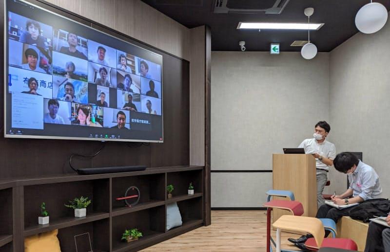 経営塾は若手をオンラインでつないで実施した(7月、仙台市)
