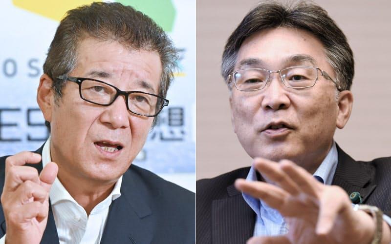 松井大阪市長(写真左)と川嶋大阪市議