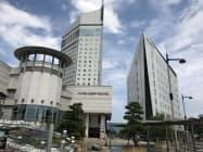 グループ会社が運営するホテルの宿泊や宴会利用も低迷している(4日、高松市)