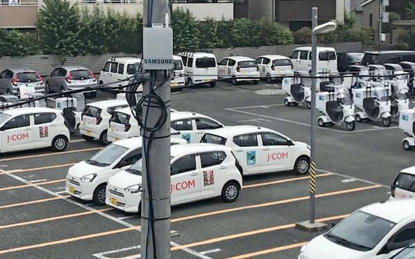 電柱を利用して基地局を設置するなど、住商はローカル5Gの実証実験を重ねてきた(東京都練馬区)