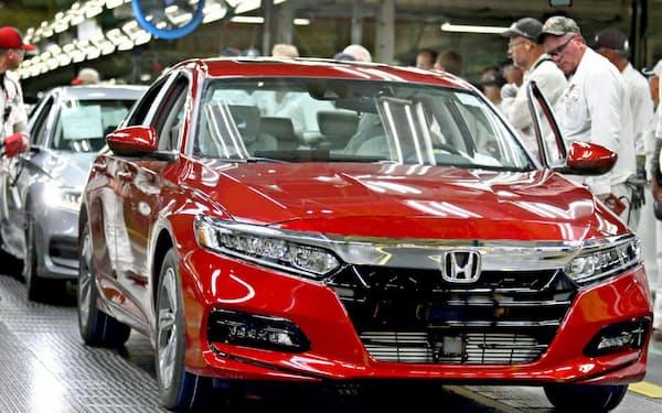 部品各社は米国の日本車メーカー工場に部品を送る(写真はホンダの米オハイオ州の工場)