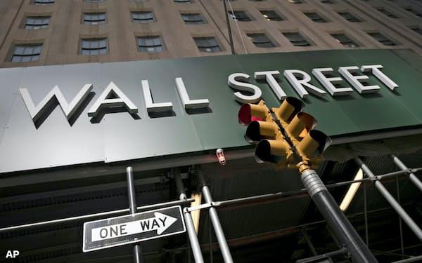 ナスダック総合株価指数は6週ぶりに下落した=AP