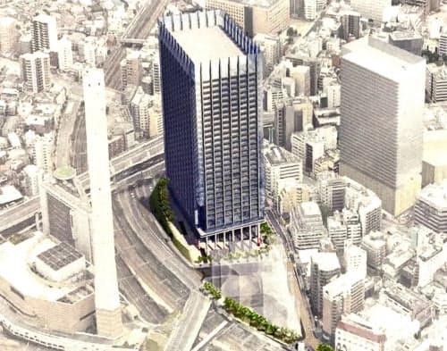 街区を統合し、大型ビルを建設する(完成予想図)