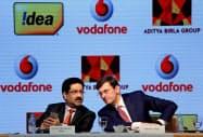英ボーダフォンのインド法人と印財閥系アイデア・セルラーは2018年に統合した=ロイター