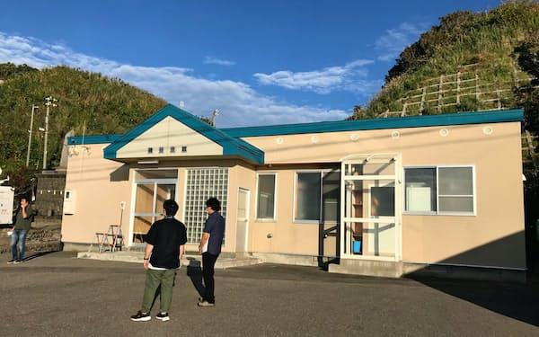 寿都町が町民向けに開く説明会第1弾の会場(7日、北海道寿都町)