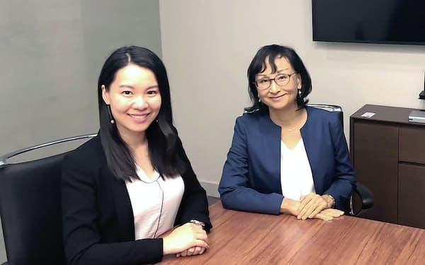 アンダーソン・毛利・友常は19年11月事実上の香港オフィスを開設した(右が所長の中村祐子・香港弁護士)