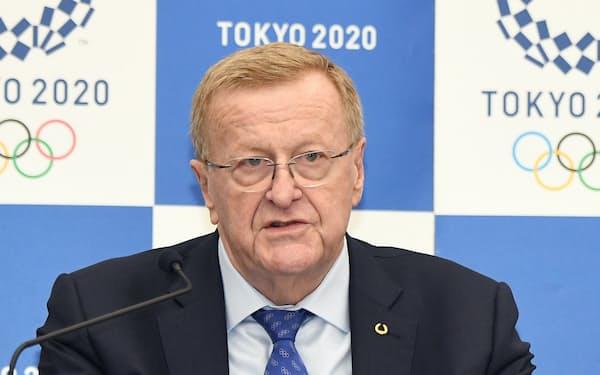 新型コロナウイルスが「あろうがなかろうが」東京五輪は開催されるとの見方を仏メディアに語ったIOCのコーツ調整委員長(2019年11月、東京都中央区の記者会見)