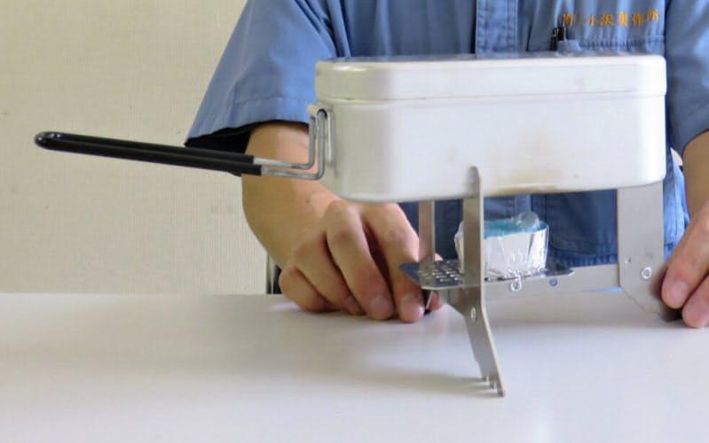 小沢製作所はデザインの助言を受けながら「メスティンストーブ」を開発した