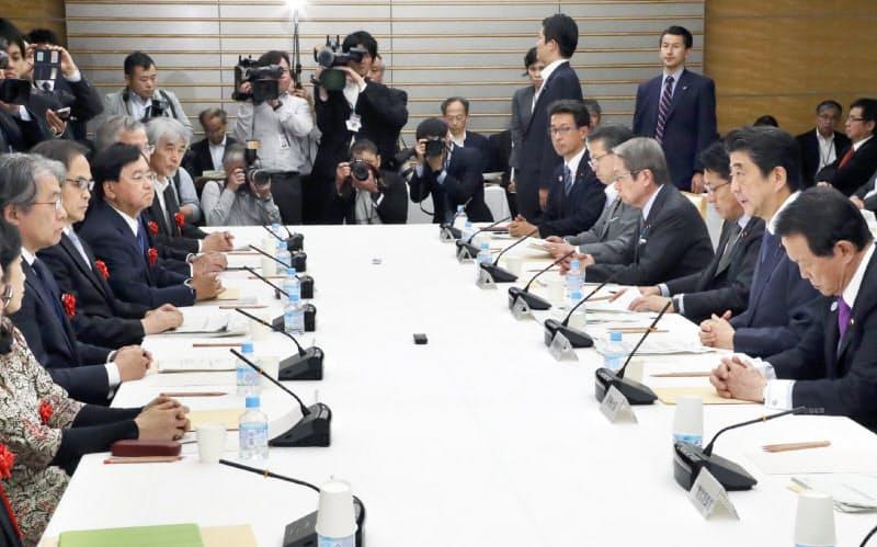 首相官邸で開かれた総合科学技術・イノベーション会議(13日、首相官邸)